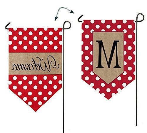 14b3477mfb polka dot welcome monogram