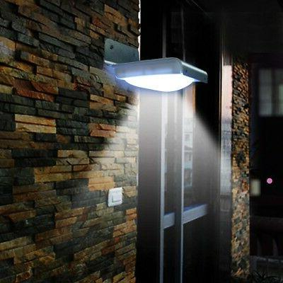 16 LED Solar Power Motion Sensor Garden Outdoor Waterproof L
