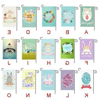 1PC Outdoor Flag Bunny Rabbit Paint Decor