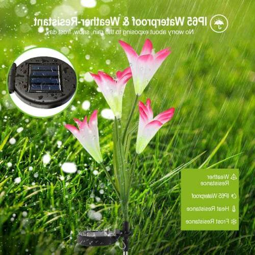2-Pack Solar Garden Outdoor Yard Lamp