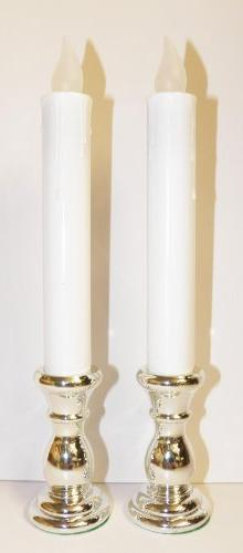 Holiday Time 2 Battery Operated Yellow LED Candle Lamps w/ S