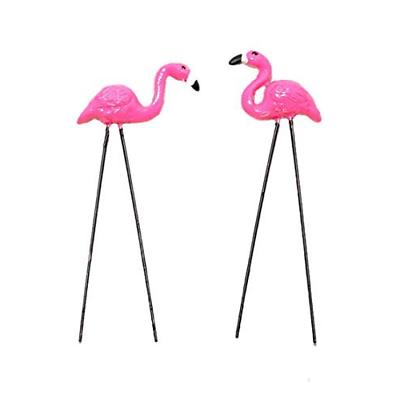 2 pack plastic pink flamingo yard outdoor