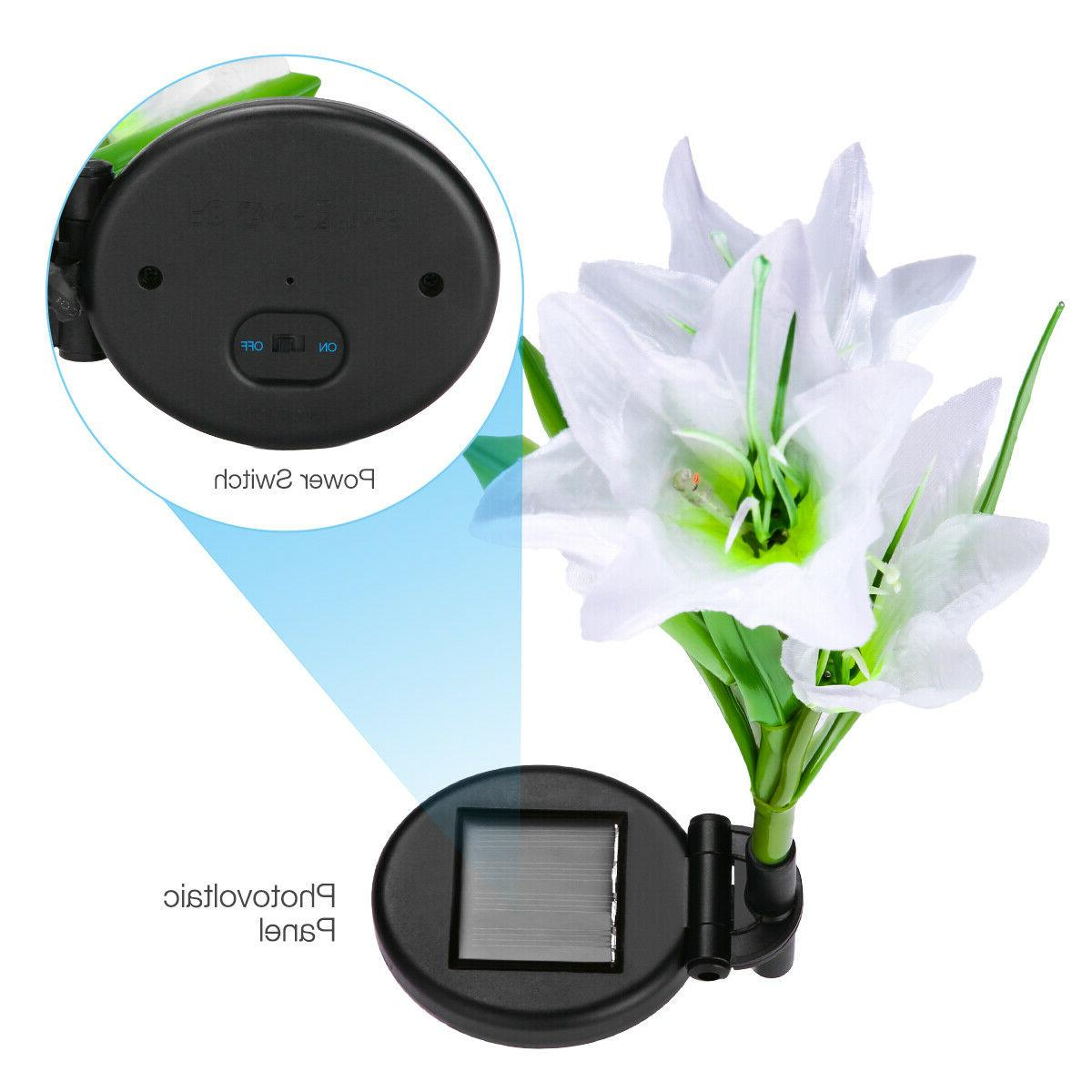 2 Flowers Multi-Color Outdoor Lamp