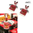 2 Sets Christmas Santa Wine Bottle Cover Cap Xmas Dinner Par