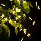 20 Star LED Solar Powered Outdoor String Lights Waterproof f