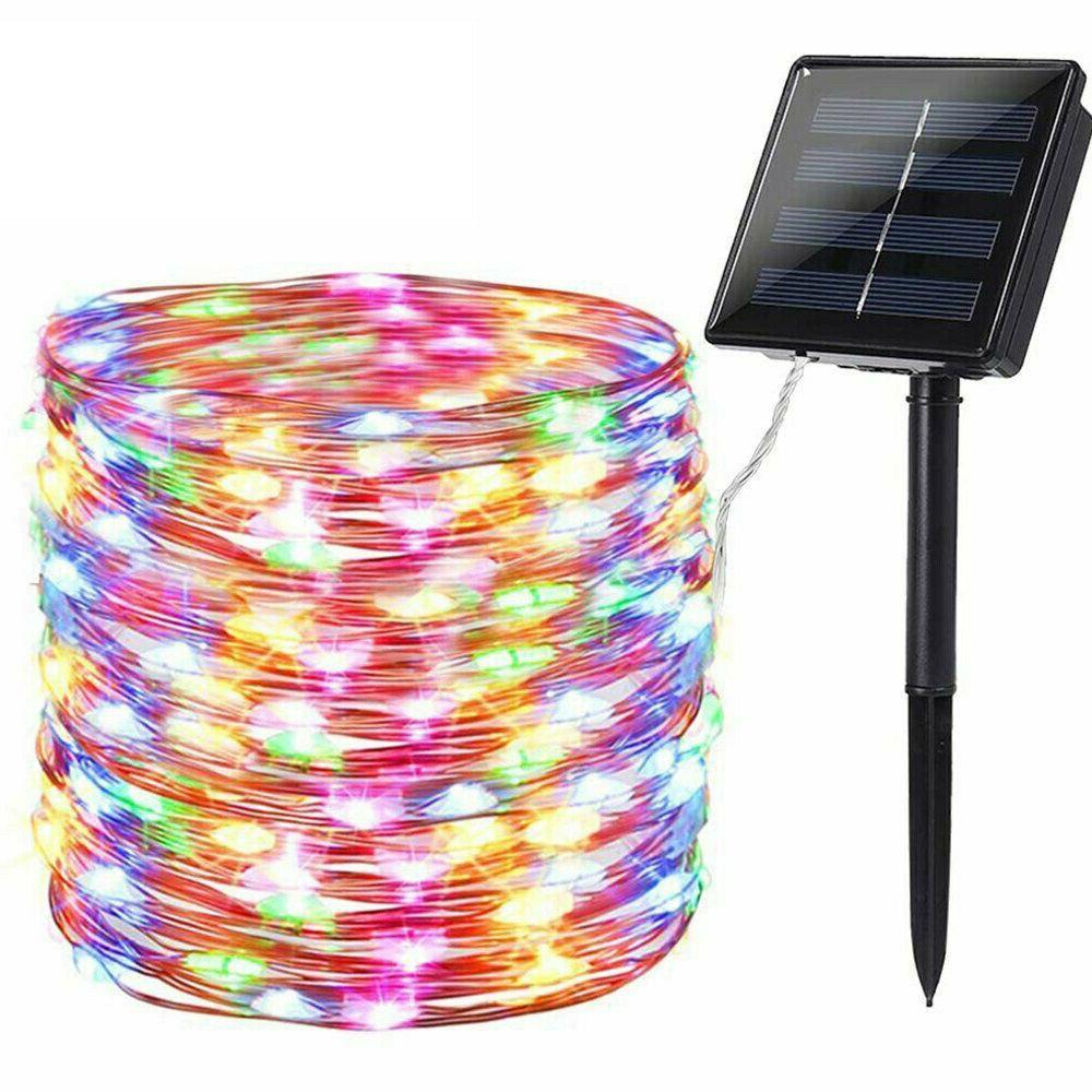 200 72′ Solar Fairy Light Wire Outdoor Waterproof Garden Decor