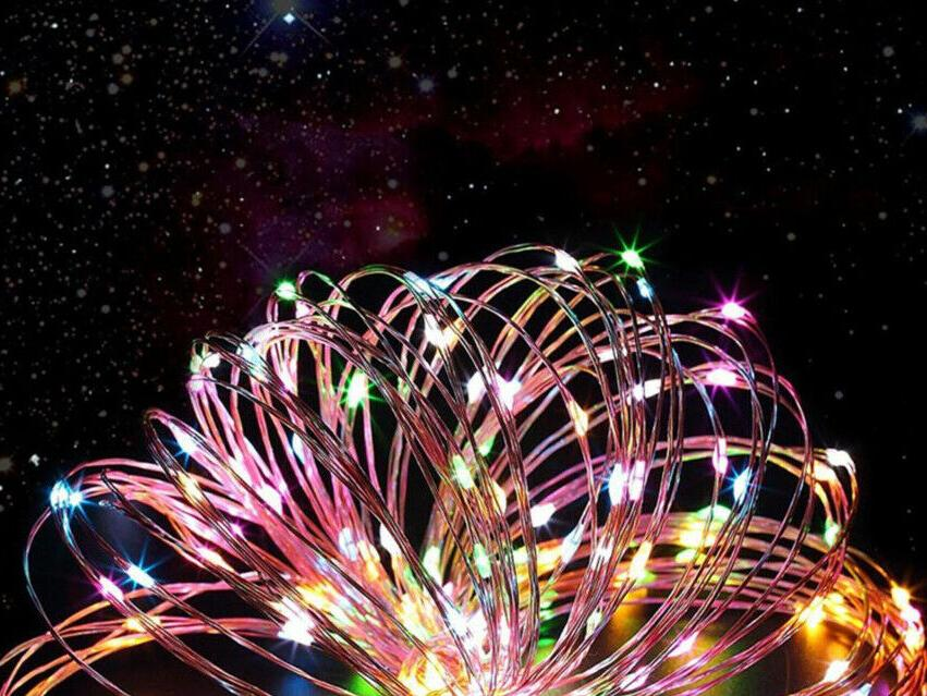 200 LED Solar Fairy Wire Decor