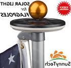 Sunnytech 2016 2nd Generation-BLACK Solar Flag Pole Flagpole