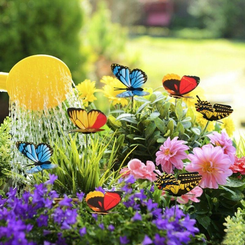 50pcs Garden Decor Stake Butterfly & Dragonfly Outdoor Yard