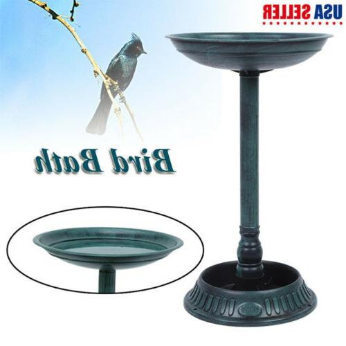 25 height pedestal bird bath outdoor garden