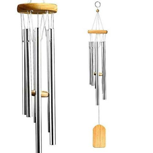25 wind chimes aluminum tubes hanging ornament