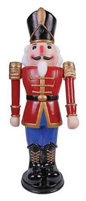 3 FT ANIMATED NUTCRACKER SOLDIER BLUE OUTDOOR CHRISTMAS YARD