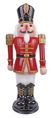 3 FT ANIMATED NUTCRACKER SOLDIER OUTDOOR CHRISTMAS YARD Deco