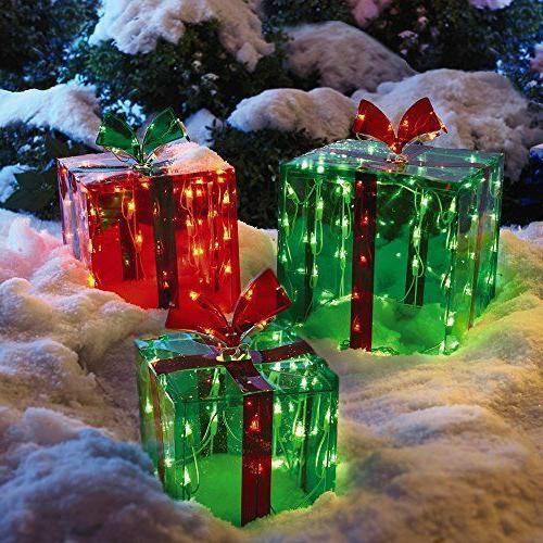 3 Lighted Christmas Yard 150 Lights Indoor Outdoor