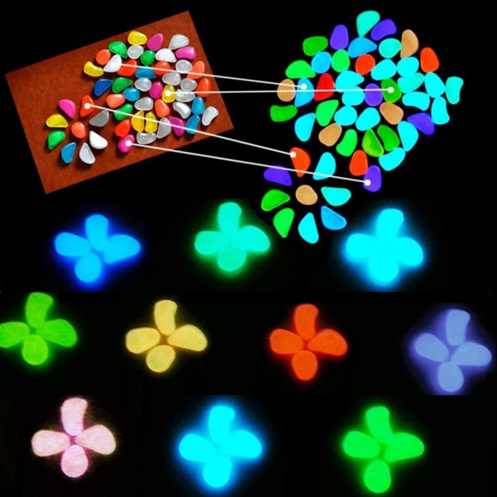 30 Glow the Dark Glow Walkways Lawn Garden <font><b>Yard</b></font> <font><b>Decor</b></font> Luminous stones