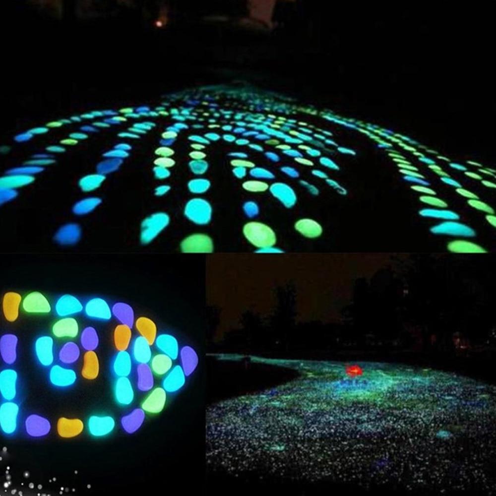 30 Pcs the Dark Garden Glow Stones Walkways Garden Patio Lawn Garden <font><b>Yard</b></font> <font><b>Decor</b></font> Luminous
