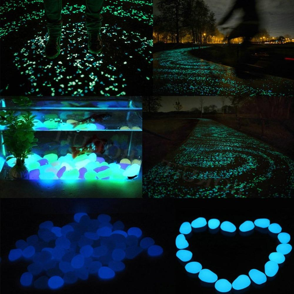 30 Pcs the Dark Glow Stones for Walkways Garden Path Lawn Garden <font><b>Yard</b></font> Luminous