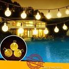 20ft 30 Solar LED Outdoor Waterproof String Lights Warm Whit