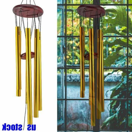 33 wind chimes aluminum tubes hanging ornament