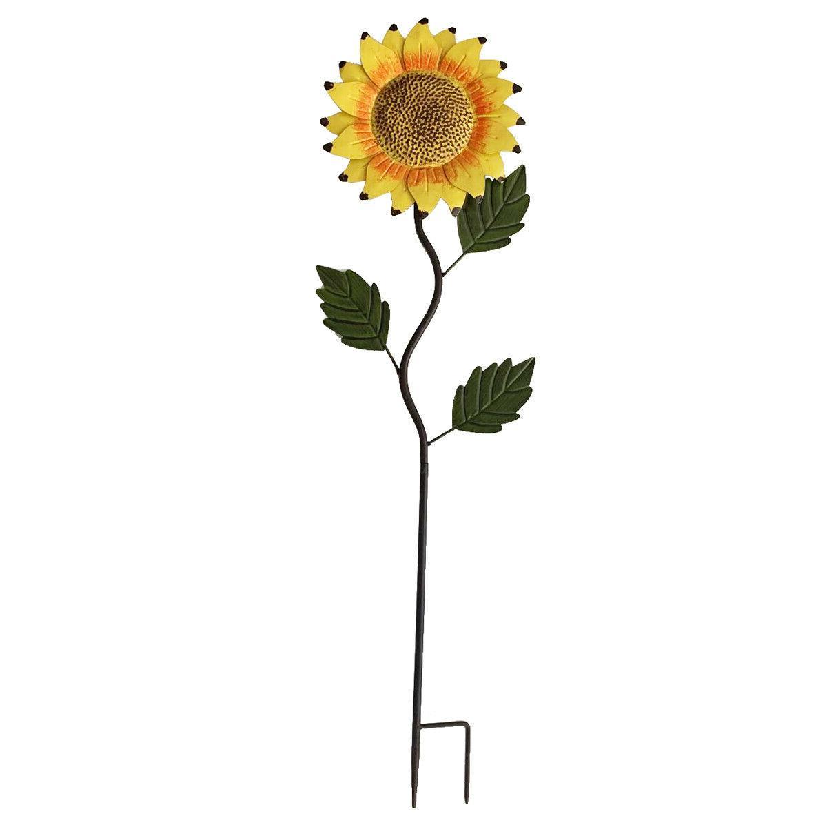 39 h metal sunflower yard stake garden