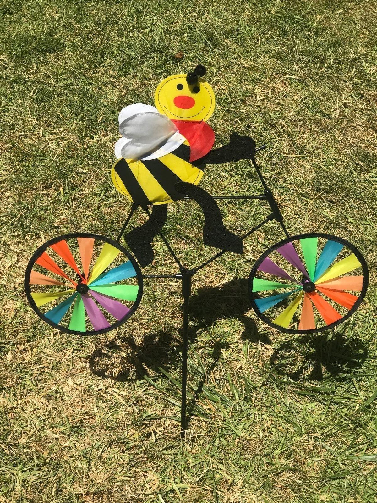 3D Animal Bike Whirligig Garden Lawn Decor