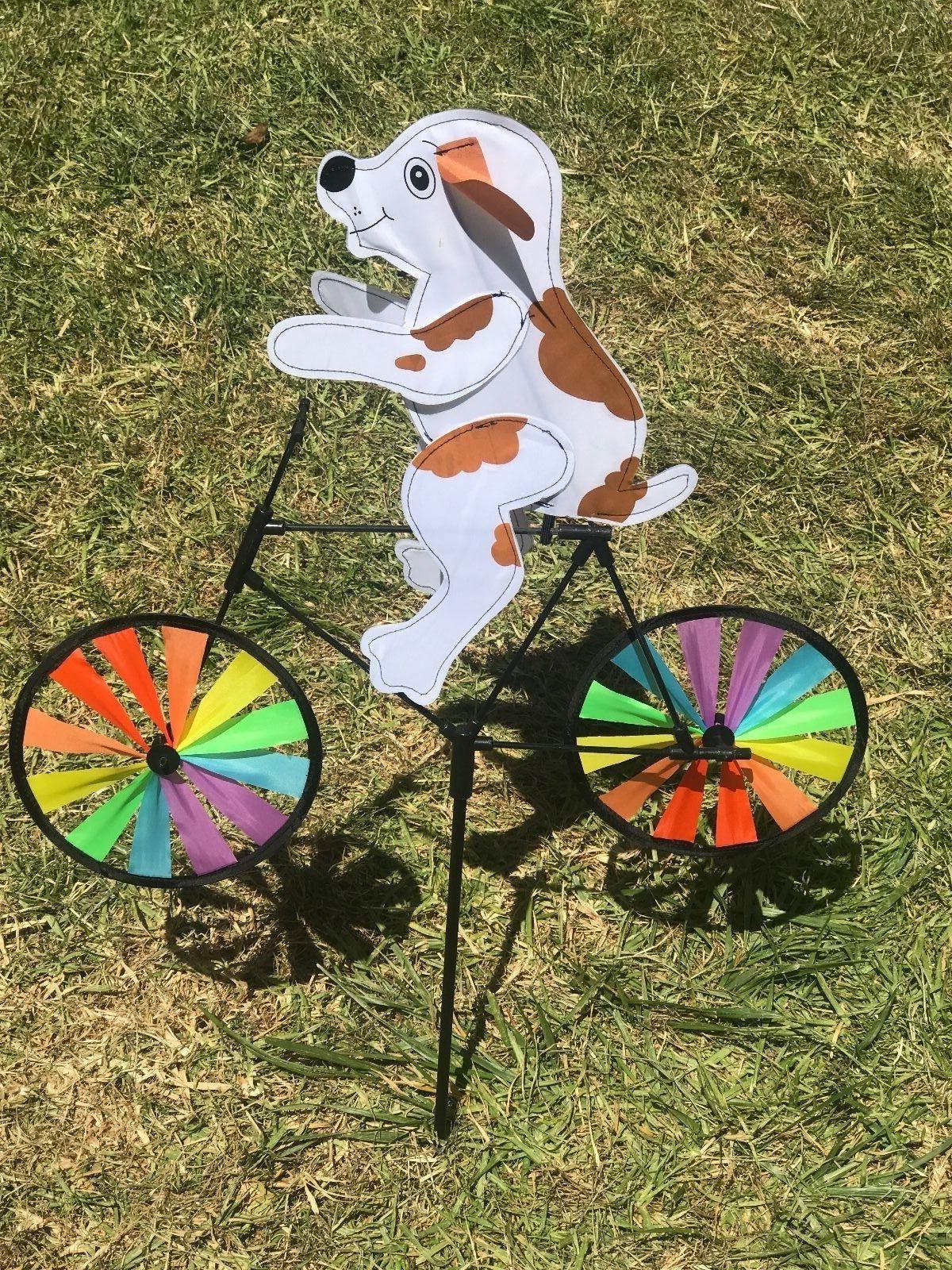 3D on Bike Windmill Whirligig Decor