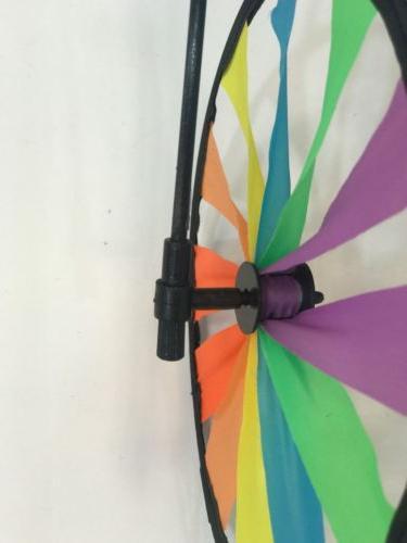 3D on Bike Windmill Spinner Whirligig Yard Decor