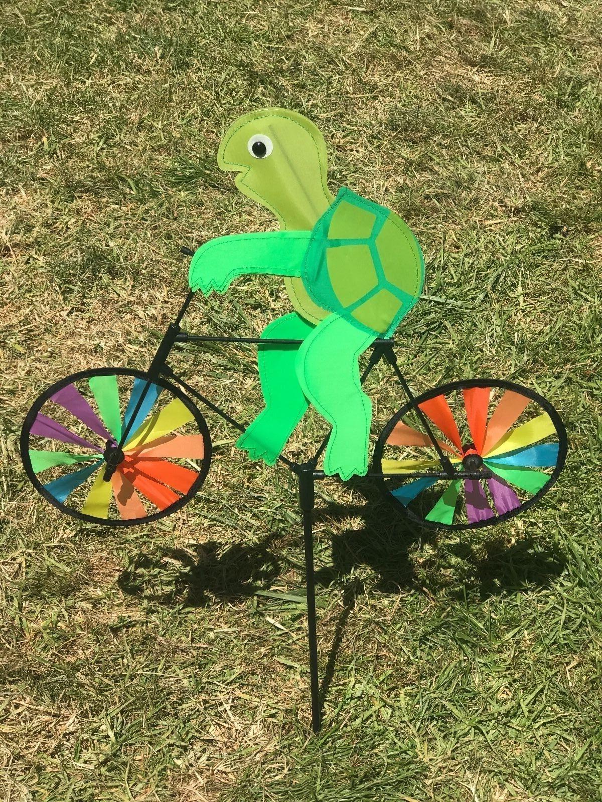 3D Happy Bike Windmill Wind Whirligig Garden Decor