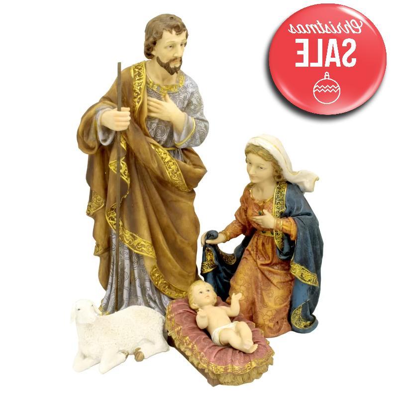 4 piece nativity figurine set christmas outdoor