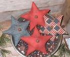 4 Primitive Americana USA PATRIOTIC July 4 STARS Bowl Filler