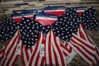 4 USA Flag Bows Indoor Outdoor Decorations Red White Blue Me