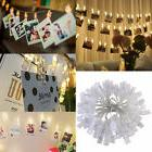 40 LED Card Photo Clip String Lights Battery Birthday Party