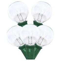 Sival 40254 - 25 Light Green Wire G40 Clear Christmas Light