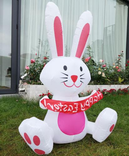 VIVOHOME 4' Inflatable Happy Easter Bunny Rabbit Colorful LE