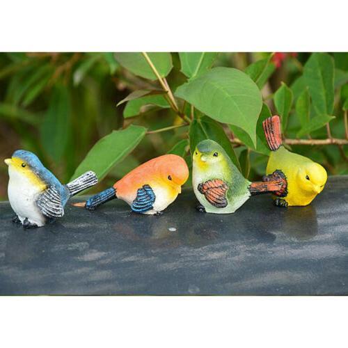 4pcs Artificial Resin Animal Yard Home Decor Ornament