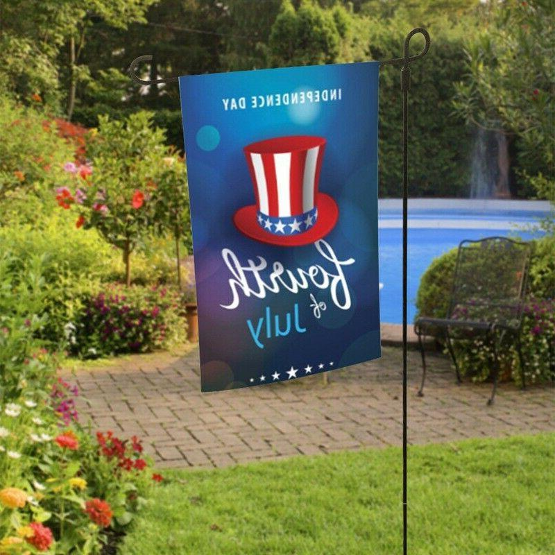 4th Of July Day Patriot Garden Banner Yard