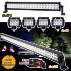 """50"""" + 24Inch LED LIGHT BAR +4X 4INCH CREE WORK PODS OFFROAD"""