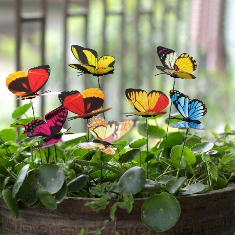 50PCS Stakes Outdoor Yard Flower