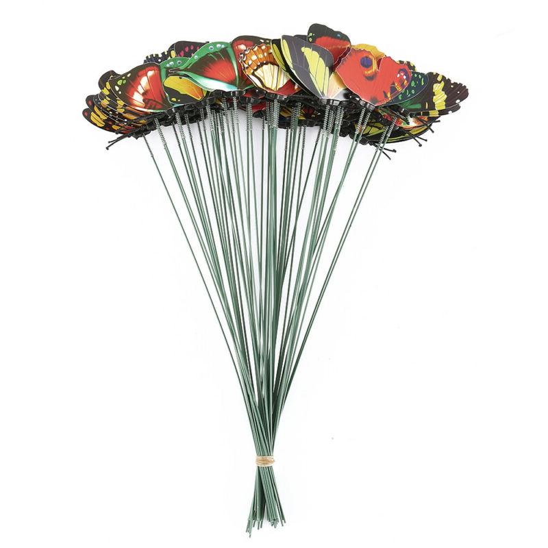 50PCS Butterfly Stakes Outdoor Flower Pot