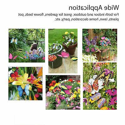 50Pcs Stakes Yard Flower Pot Bed Yard Art