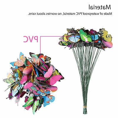 50PCS Butterfly & Flower Decoration