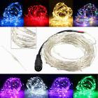 5M/10M 50/100 LEDs Silver Wire Christmas Outdoor String Fair
