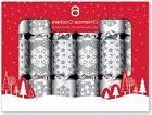 6 Christmas Crackers Star & Snowflake Design Gift Fun Kids X