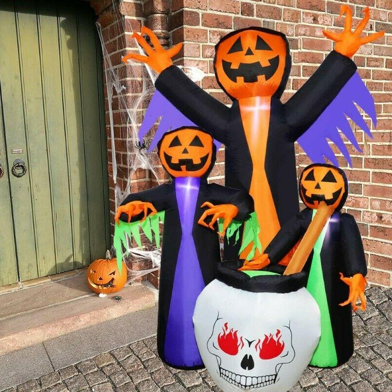 6 Halloween Blow-up Witch Yard Decor Outdoor Prop