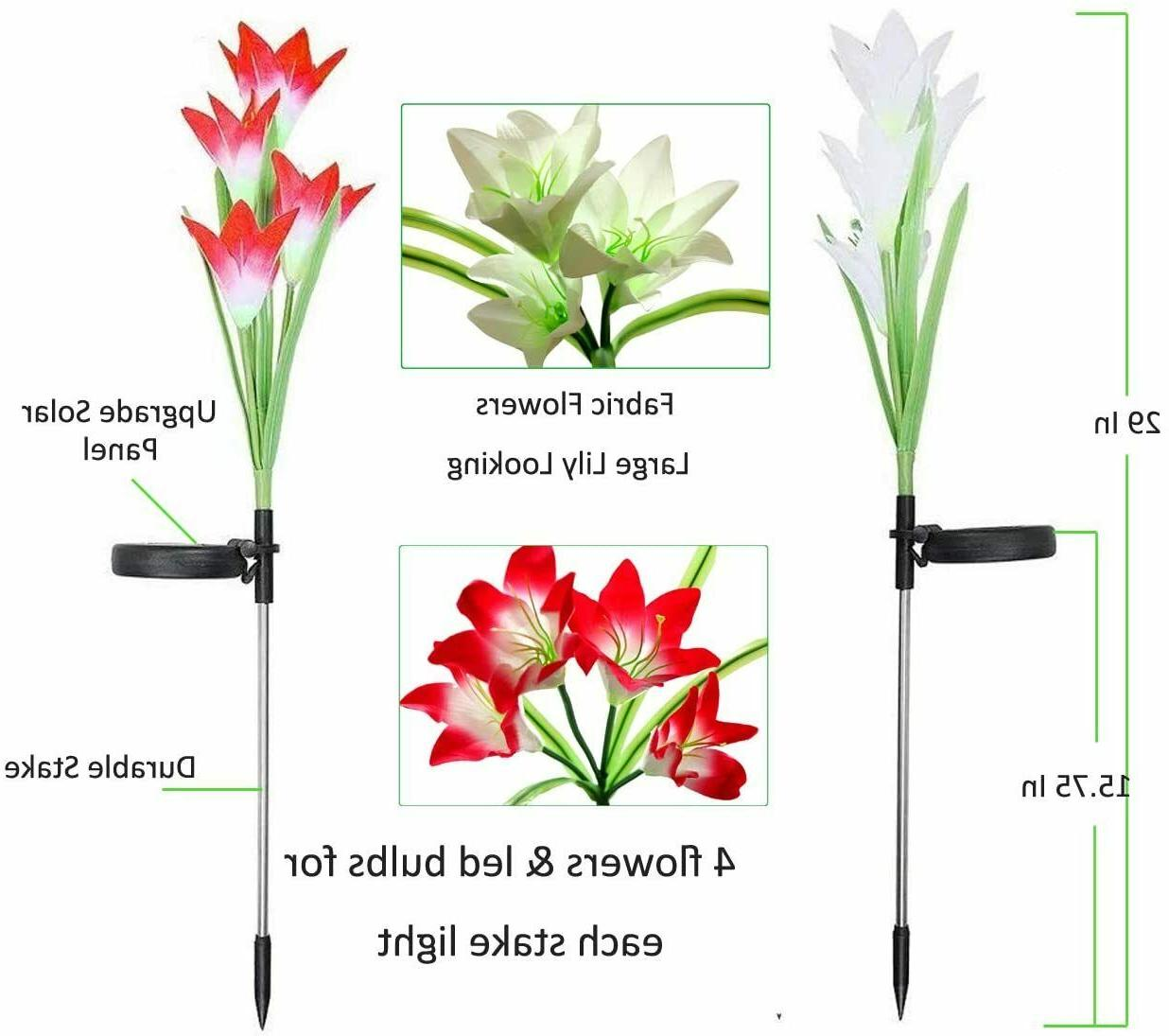 6 Solar Flowers Lights Yard