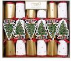 Caspari 6 Trim a Tree Celebration Crackers with Luxury Embel