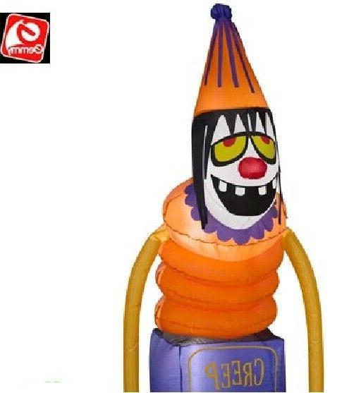 "Gemmy 60"" Clown AIrblown Inflatable Yard"