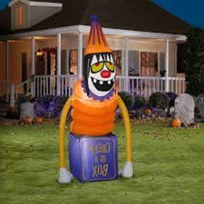 60 halloween creepy clown airblown inflatable lighted