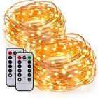 2x 20ft 60LED Battery Operated Fairy String Light Micro Copp