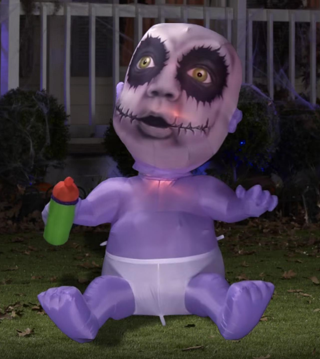 65 halloween animated zombie baby airblown inflatable